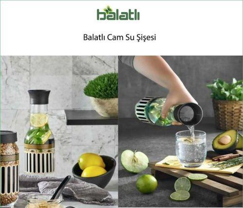 Balatlı Cam Su Şişesi BLT-CAM SU ŞİŞESİ
